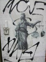 Lady Justice: Heart vs brain by sykonurse