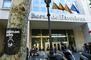 Goldman-Sachs-Puppet at Barcelona Stock Exchange by sykonurse