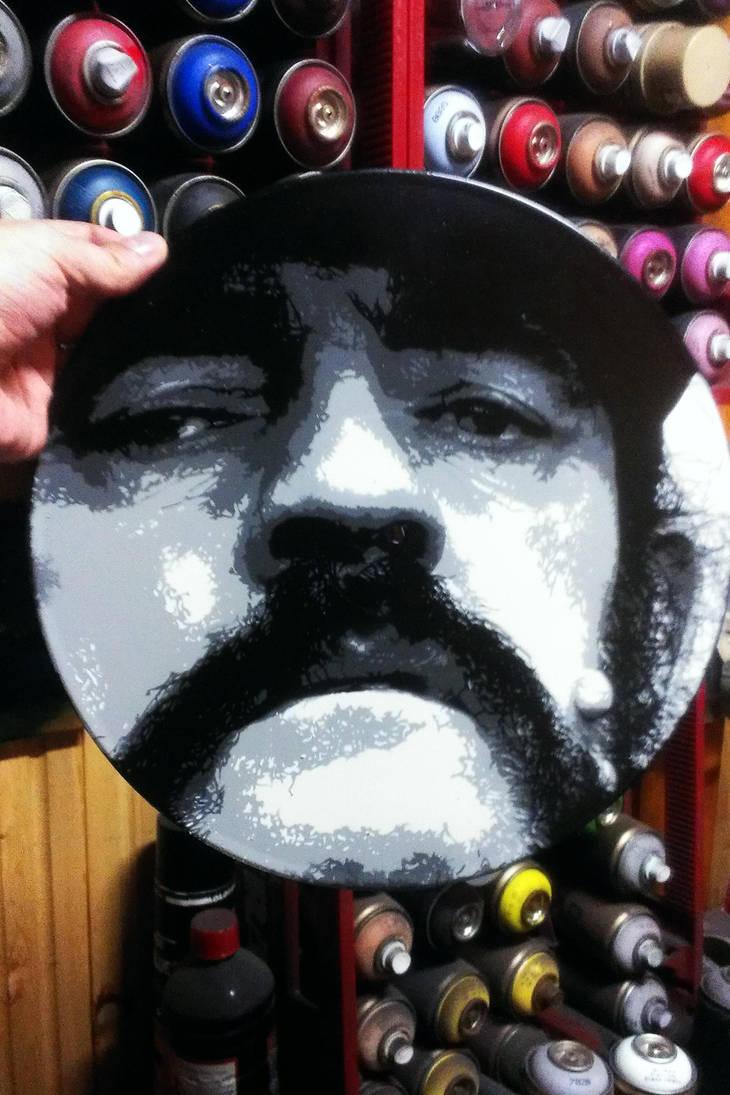 Lemmy Kilmister on LP by sykonurse