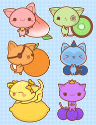 fruit kittens v2 by pronouncedyou