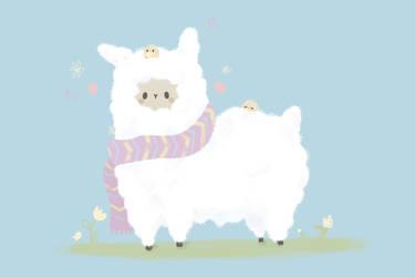 Alpaca scarf by pronouncedyou