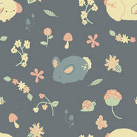 Bunny Garden Pattern by pronouncedyou