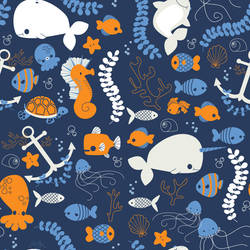 Ocean Friends Pattern by pronouncedyou