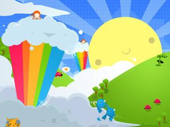 Rainbow Overdose Wallpaper by pronouncedyou
