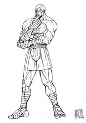 Sagat drawing by jaredjlee