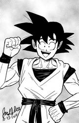Inktober Day 23 Son Goku by jaredjlee