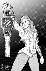 Inktober Day 28 WWE's Becky Lynch by jaredjlee