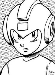 Inktober Day 29 Megaman by jaredjlee