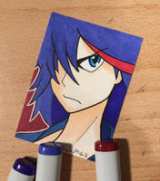 Ryuko Matoi Sketch Card by amonkeyonacid