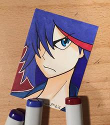 Ryuko Matoi Sketch Card by amonkeyonacid