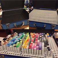 DIY Marker Storage by amonkeyonacid