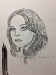 Jyn Erso sketch by amonkeyonacid
