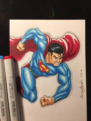 Superman Copic Doodle by amonkeyonacid