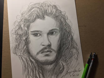 Jon Snow sketch  by amonkeyonacid