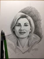 The Thirteenth Doctor sketch by amonkeyonacid