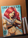 Red Sonja / Dark Souls sketch cover  by amonkeyonacid