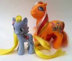My Little Pony G3 vs G4 Zombie by eponyart
