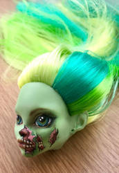 Zombie pin up by eponyart