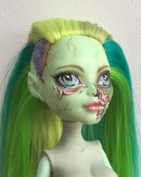 Zombie pin-up (in progress) by eponyart
