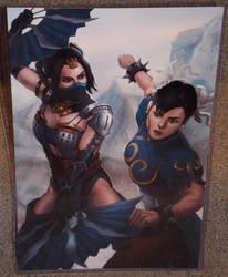 Kitana vs Chun-Li by Mohamme