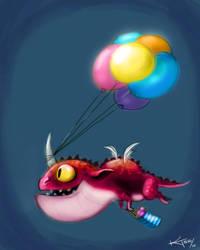 Daily Doodle Birthday Dragon by ktshy