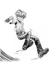 Battling Boy inks by ktshy