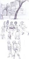 cafe sketches by ktshy