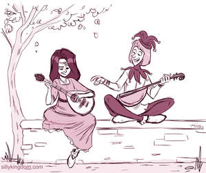 Music lessons in the garden by ktshy