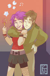 Tonks n' Lupin by ktshy