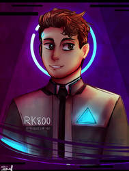 RK800 - Connor by Cloud-Drawings