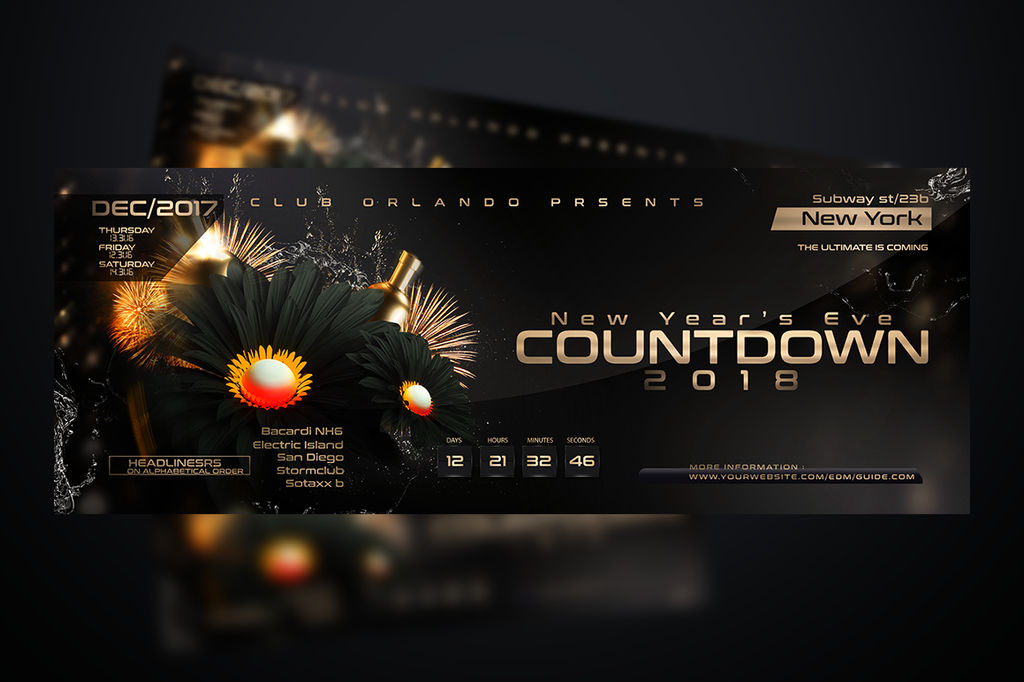 nye flyer template by stormclub on deviantart