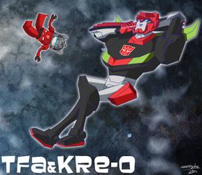 TFA Kre-o Sideswipe by umenosuke