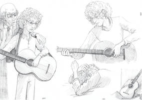 The guitar that has seen youth and prejudices. by Liris-san