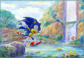 Sonic and Knuckles by Liris-san