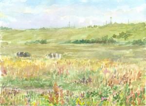 Evening in the meadow by Liris-san