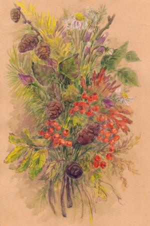 Autumn Bouquet (watercolor) by Liris-san