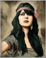 Natasha portrait by digitalinkrod