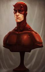 Daredevil bust sketch by digitalinkrod