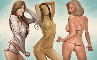 Hot ladies by digitalinkrod