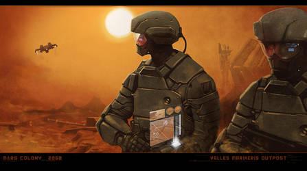 Mars colony outpost by digitalinkrod