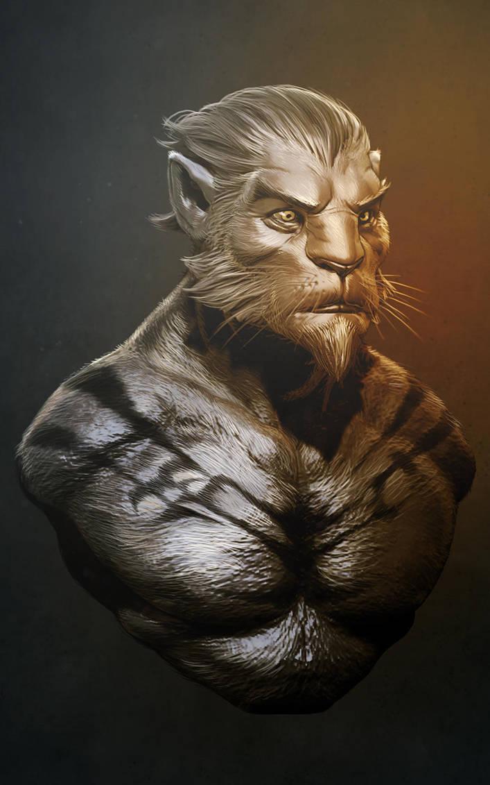 Lion warrior paintover by digitalinkrod