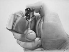 hand and lighter by cardman