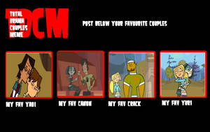 Total Drama Couples Meme by GundamSamuraiAkira