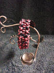 Black and Red Capricorn Paracord Bracelet by Lilmizflashythang