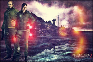Resident Evil: Revelations 2 - Barry and Claire by saifbeatsart