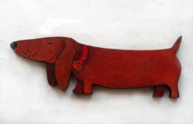 Painted The dachshund by Animiru