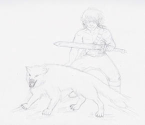 WIP Cornering Wolves by bluegirl4