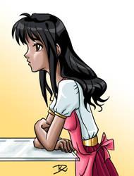 Black-haired girl by Sirtaki