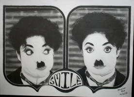 Michael as Charlie Chaplin by 1brownchocolate