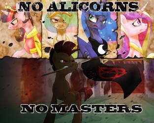 No Alicorns, no masters by DarkSittich